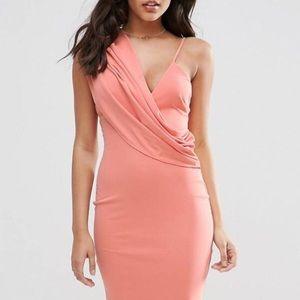 Asos one shoulder cowl dress Size 0